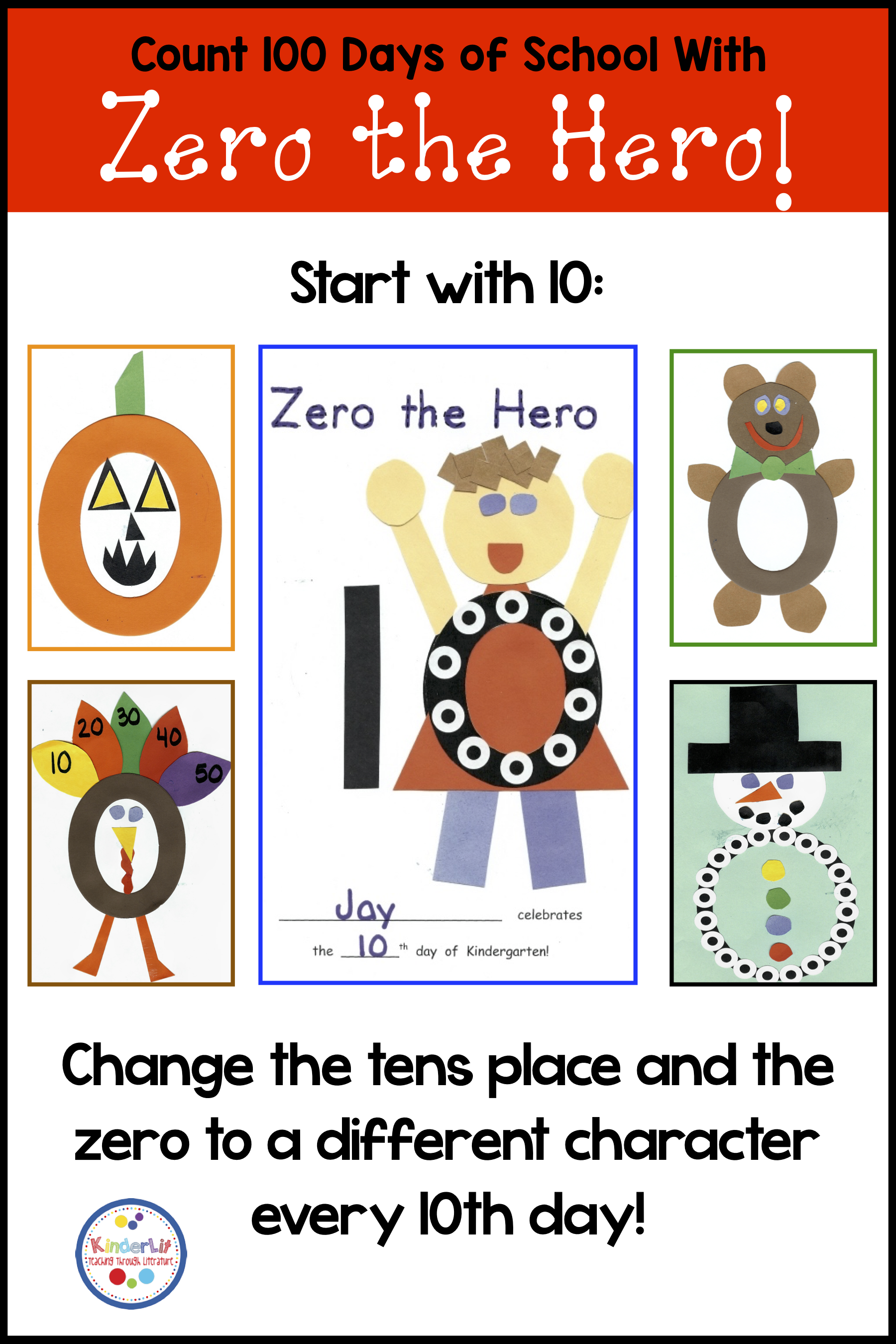 Counting 100 Days Of School With Zero The Hero With