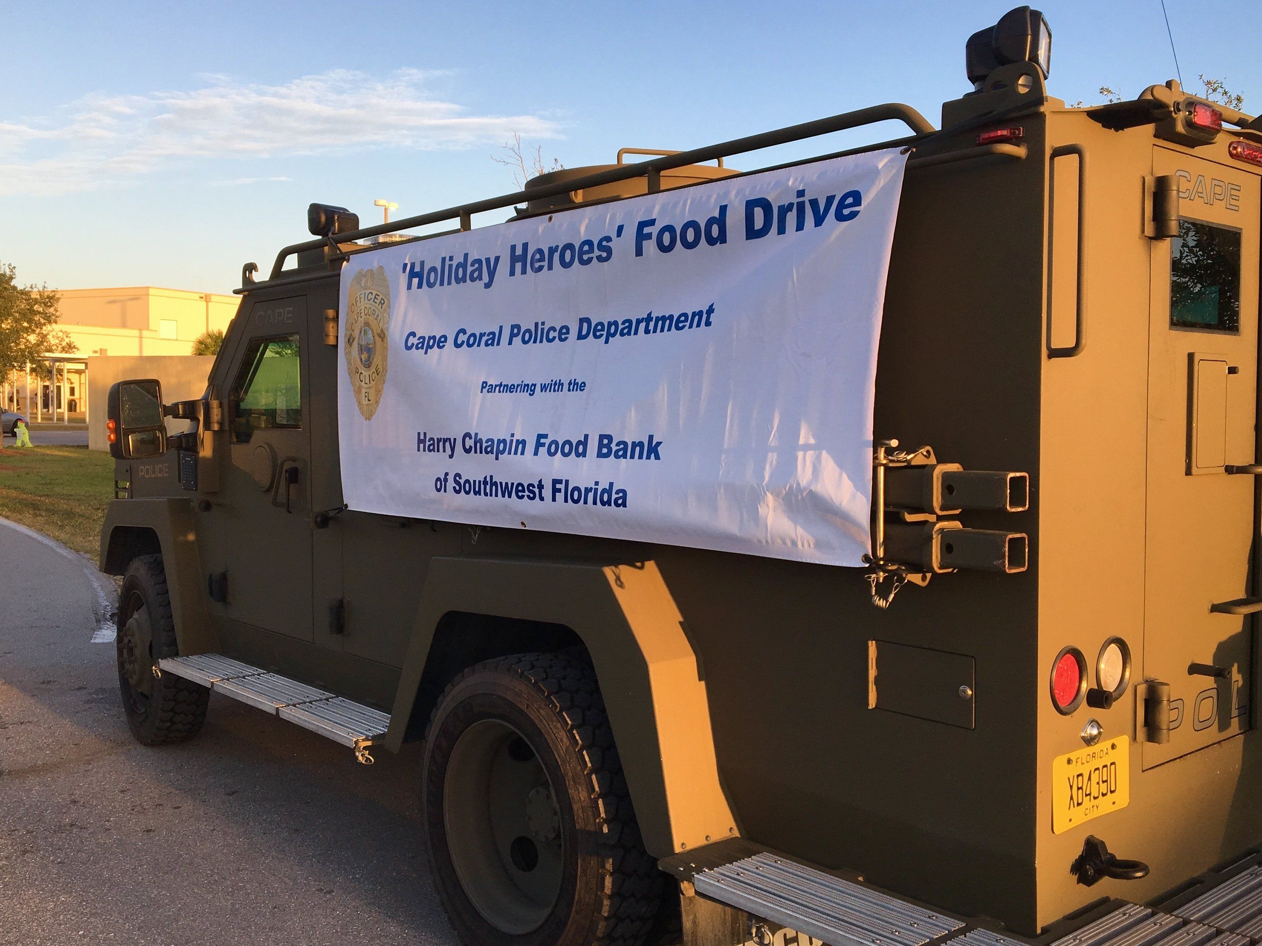 Cape Coral Police Partnering With Walmart For 7th Annual Holiday Heroes Food Drive Cape Coral Police Department Cape Coral Food Drive Police