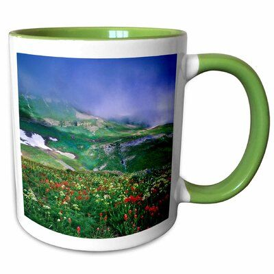 East Urban Home Holladay Wildflowers, Mt Timpanogos Wilderness Area, Utah USA Coffee Mug #utahusa