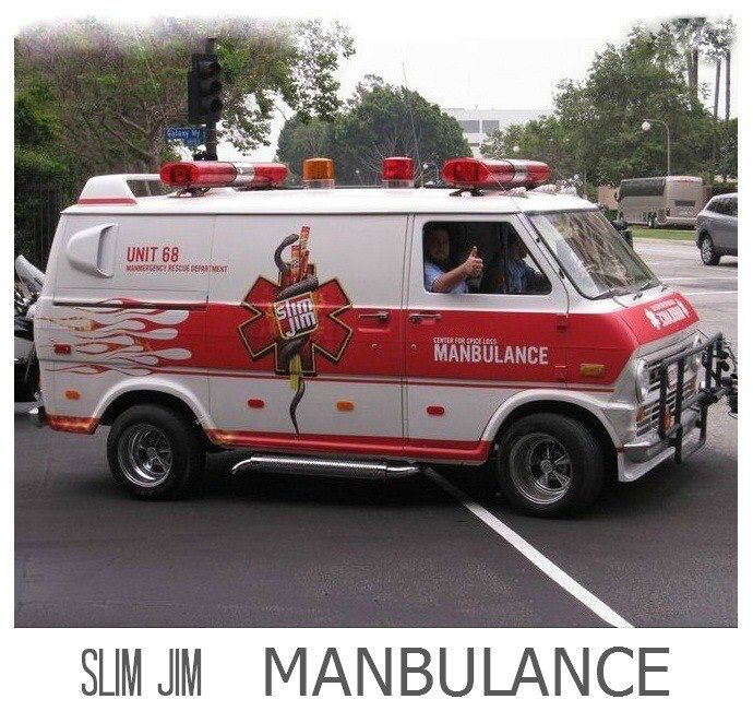 Slim Jim Manbulance Ford Custom Van Ford Van Gmc Vans