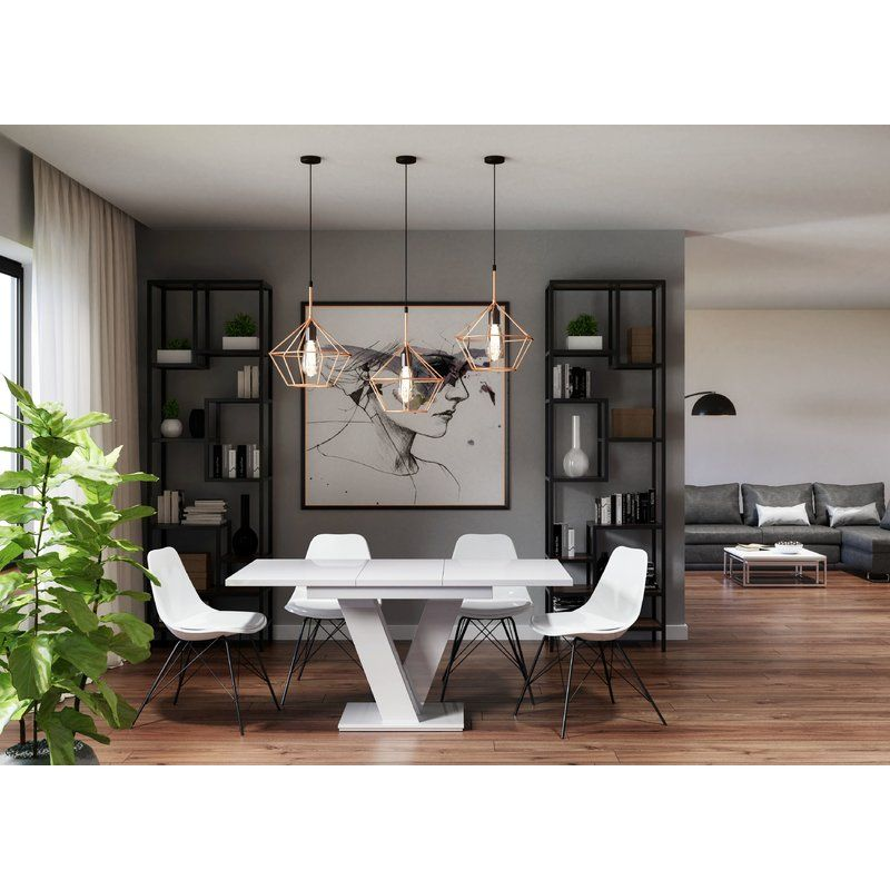 Trimble Extendable Dining Table Open Plan Kitchen Dining Living Folding Dining Table Modern Family Rooms