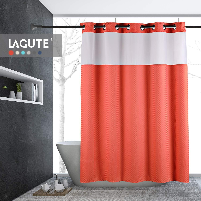 Lagute Snaphook Truecolor Hook Free Shower Curtain Removable