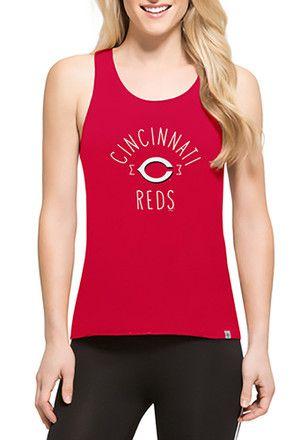 the latest 7b836 b321e  47 Cincinnati Reds Womens Red Lumi Tank Top.