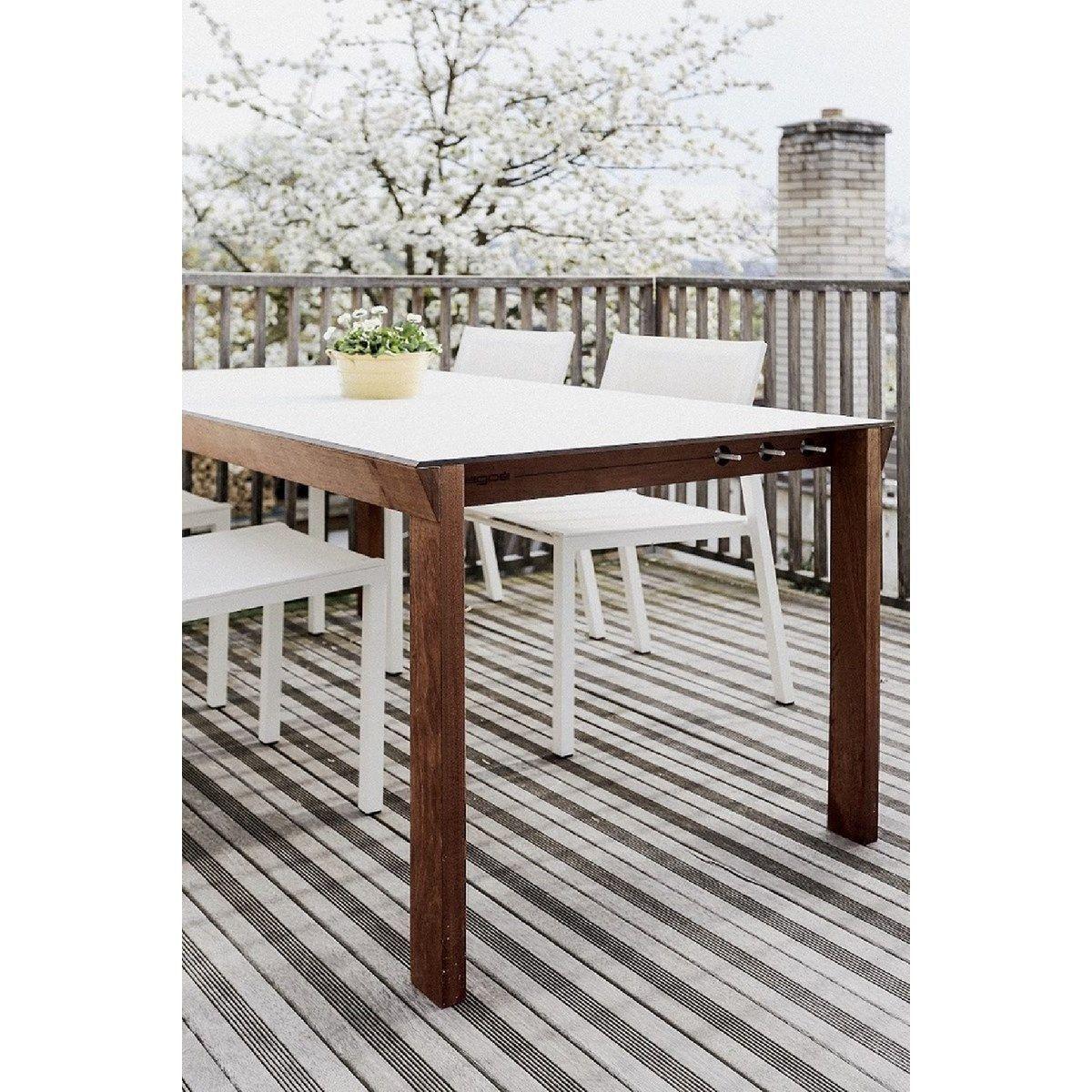 Salon De Jardin Egoe Table Desa Rectangle Et 4 Chaises Cora