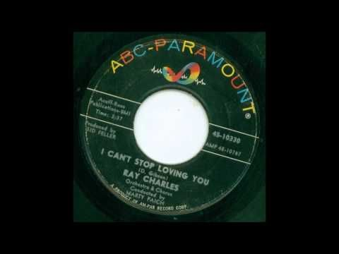Ray Charles, ''I Can't Stop Loving You'', 1962 (45 RPM)    Love this