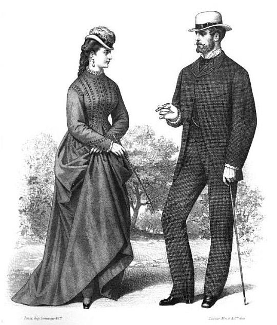 Victorian Era Clothing For Men Victorian Era Style 1872 The Elegant Excessive Victorian