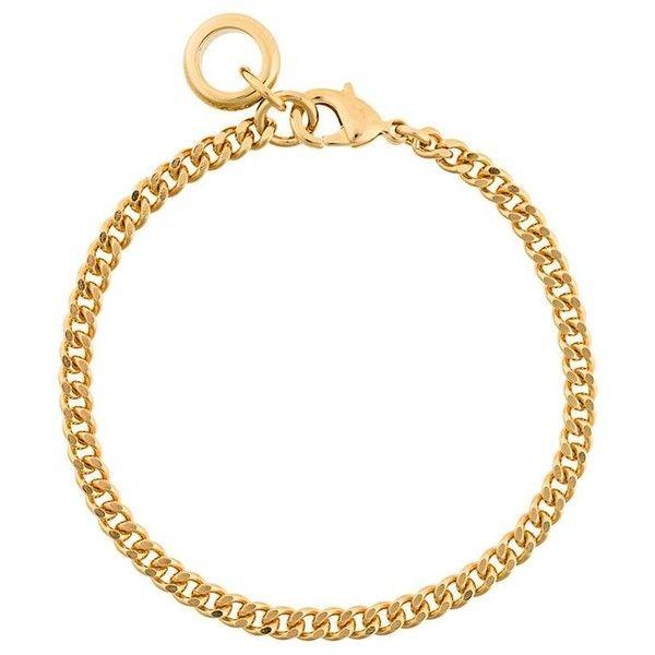 A.P.C. 'Andre' bracelet ($73) ❤ liked on Polyvore featuring jewelry, bracelets, metallic, metallic jewelry, metal bangles, metal jewelry and gold tone jewelry