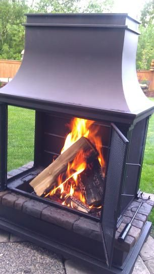 Bond Manufacturing Sevilla 36 In Steel And Slate Wood Burning