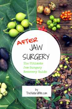 A step by step guide to 5 ways to quickly reduce swelling after jaw surgery and facial surgery using natural supplements, vitamins, & nutrition. #softfoodsaftersurgeryteeth