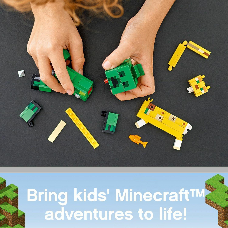 NEW LEGO Minecraft BigFig Creeper and Ocelot 21156