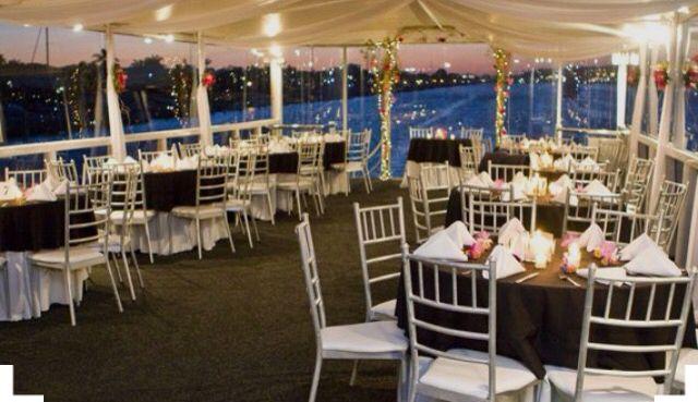 Beautiful Wedding Decorations On Morpheus Yacht Wedding