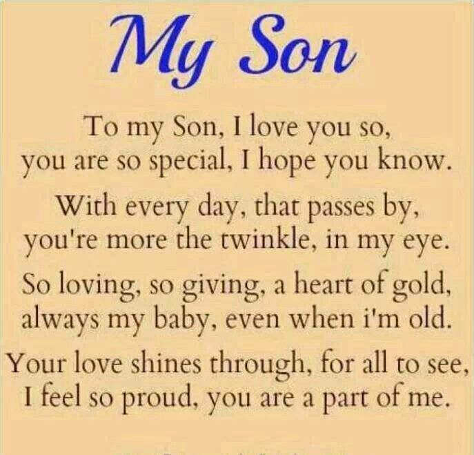 My son, but now your gone, and I miss you so | MY SON BUCK