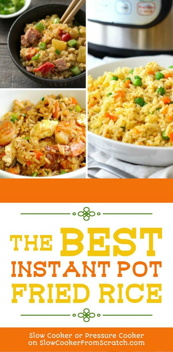 The BEST Instant Pot Fried Rice Recipes #ricecookermeals