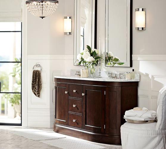 astor mirror pottery barn if we choose for two sinks together two mirrors would