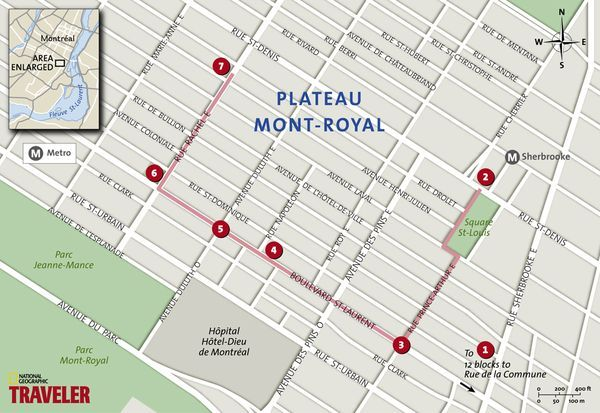 Montreal Walking Tour PlateauMontRoyal National Geographics