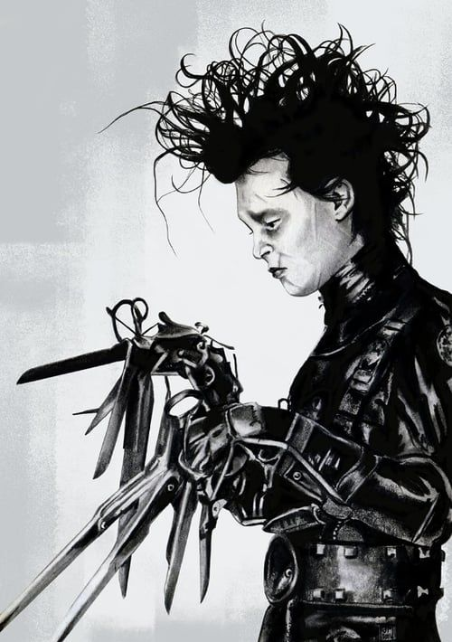 cinematic elements of edward scissor hands Edward was created by a scientist the scissor hands were only intended to be temporary, however the scientist died before he could replace the scissors with normal hands edw ard was stuck with the scissors as hands for the rest of.