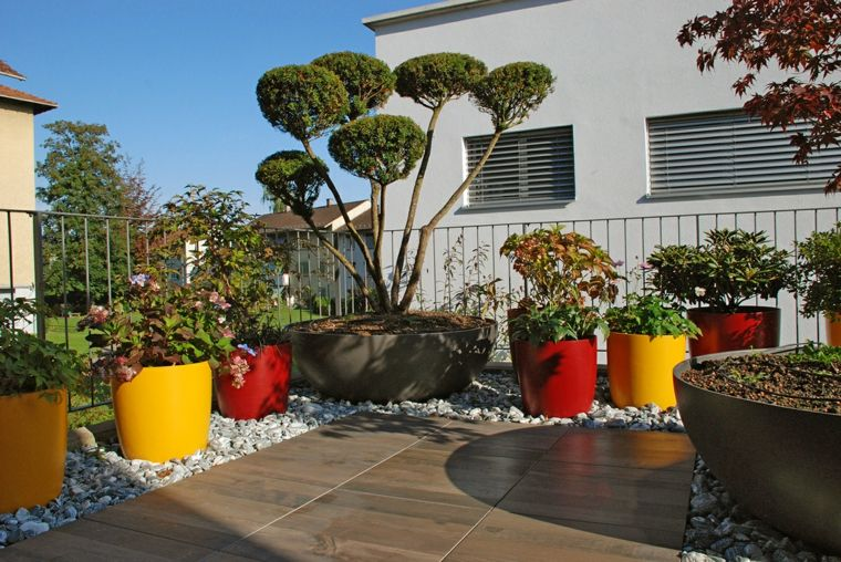 macetas grande de colores llamativos para el jardín Macetas - maceteros para jardin