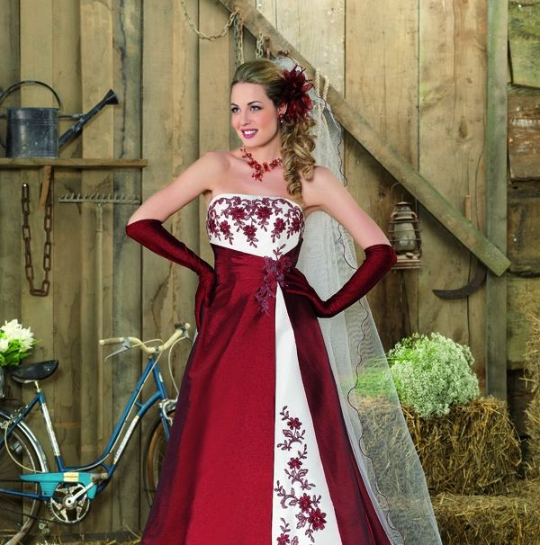 Vestidos de Novia en colores Rojo y Blanco 2013 | vestidos novias ...