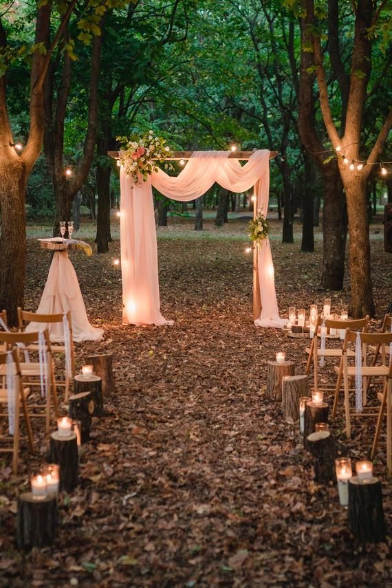 Wedding Arch Chiffon Panels, Canopy Draping, Chupp