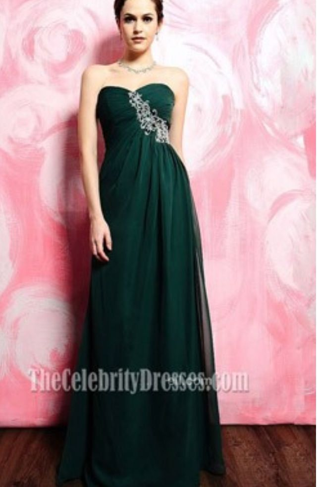 Dark green dress | Vestidos verdes largos/ Long green dresses ...
