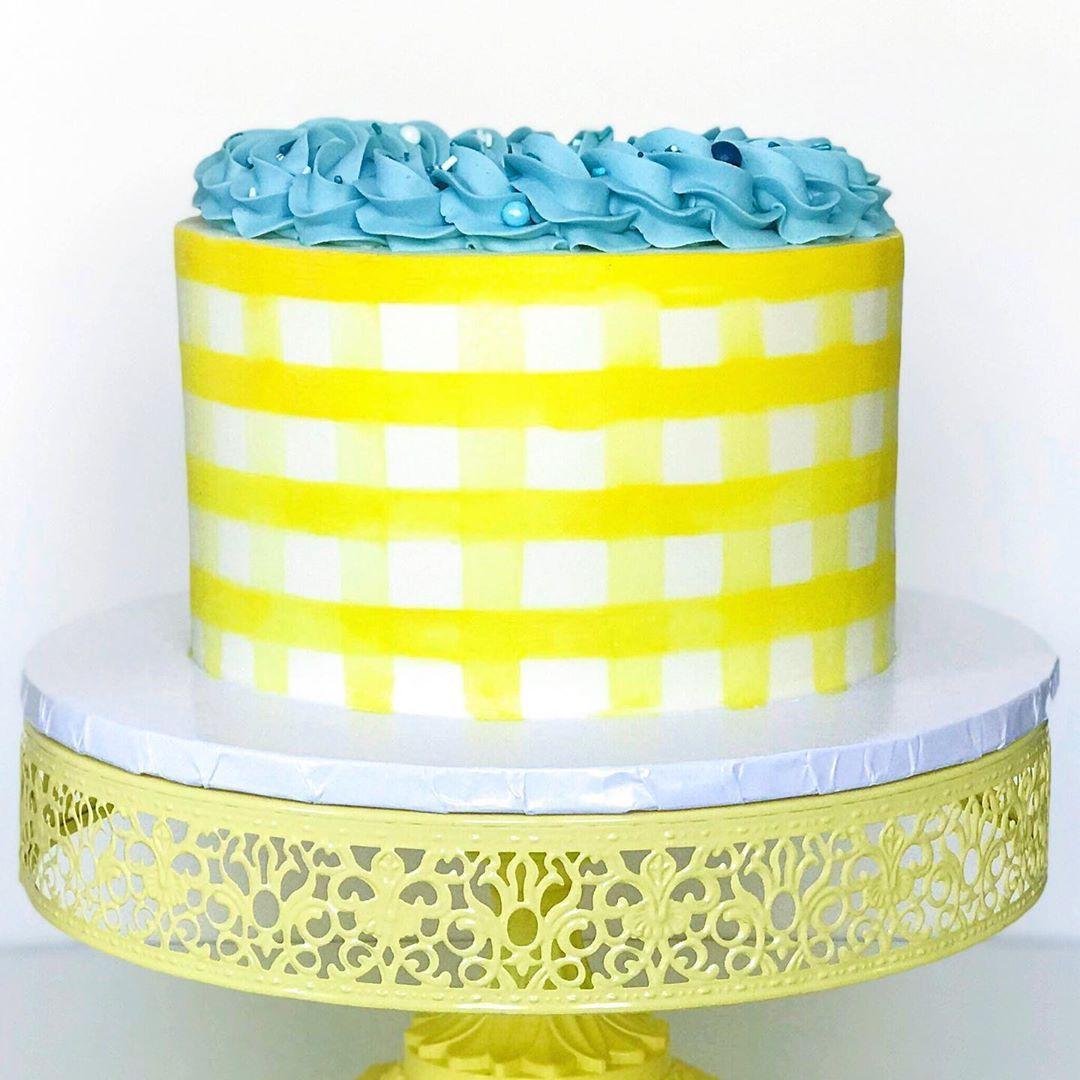 12 Inch Round Metal Wedding Cake Stand Yellow Cake Fall Cakes Hazelnut Cake