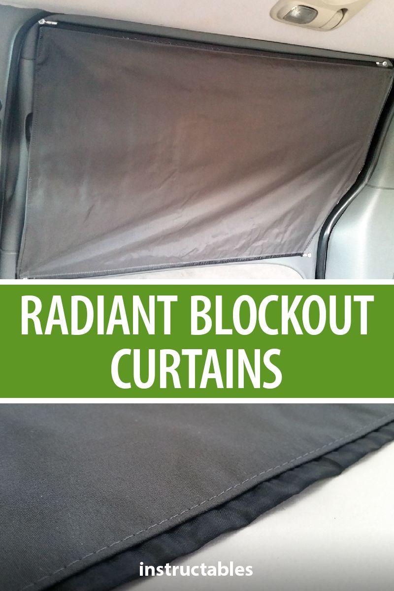Diy radiant blockout curtains for stealth camper van