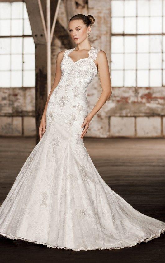 D1264 Keyhole Back Wedding Dresses By Essense Of Australia