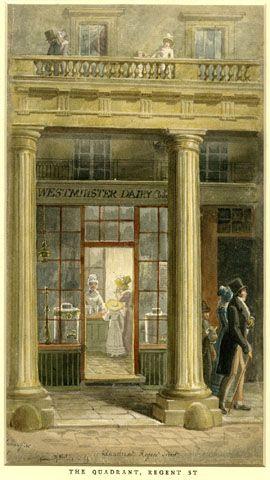 Westminster Dairy, The Quadrant, Regent St., George Scharf
