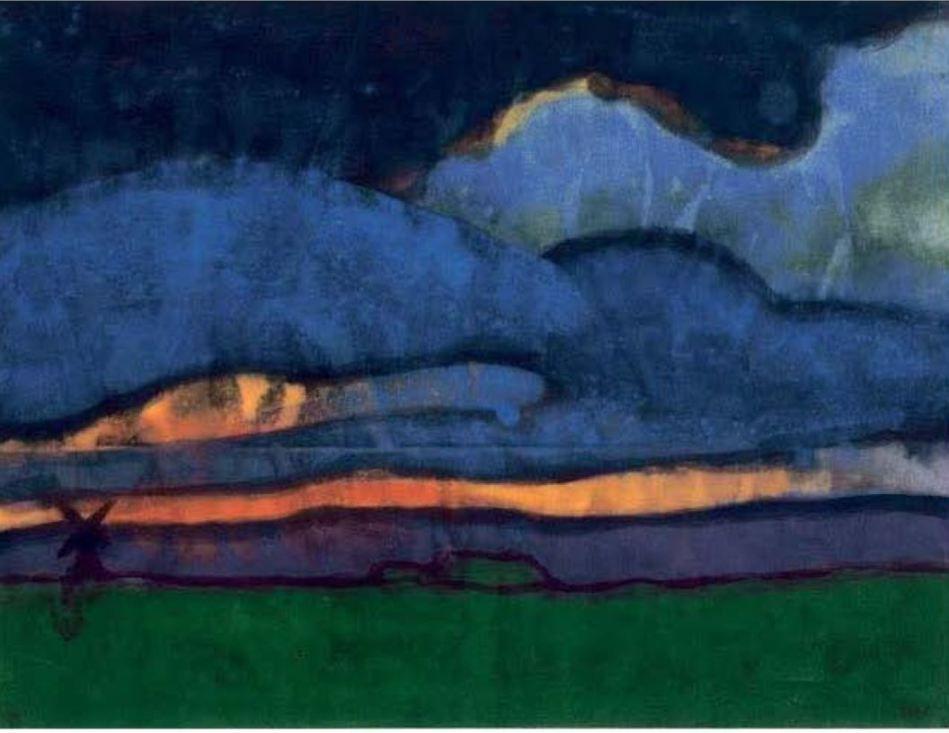 Emil Nolde. effet de nuit....