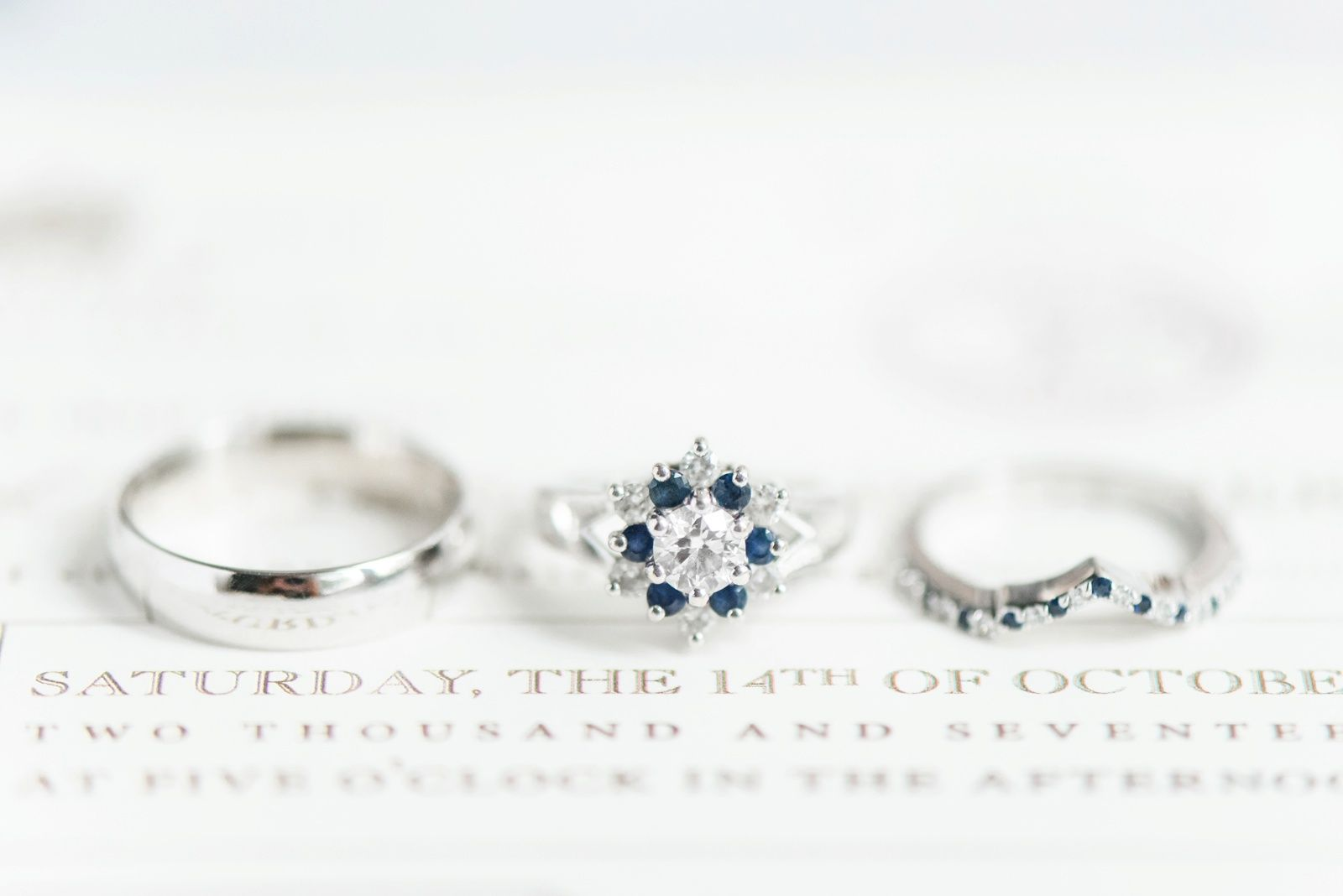 Adding a touch of blue sapphire to your wedding ring lets the