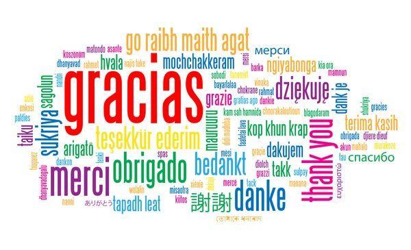 Resultado de imagen para gracias en varios idiomas pinterest