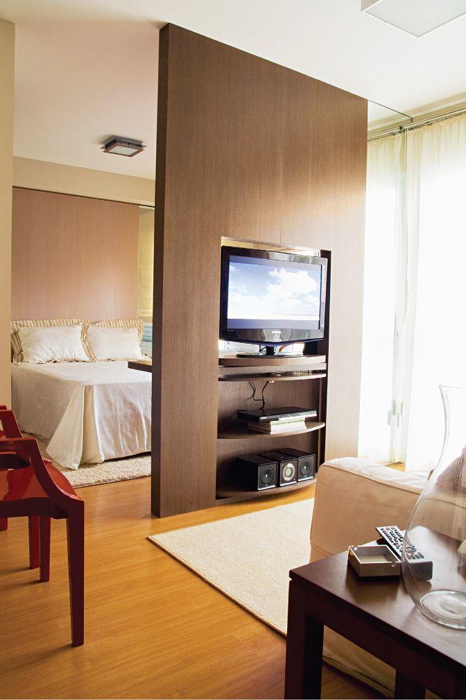 Sala Com Tv Giratoria ~ Quitinete moderna e estilosa  Sala de Estar  Pinterest  Quitinete