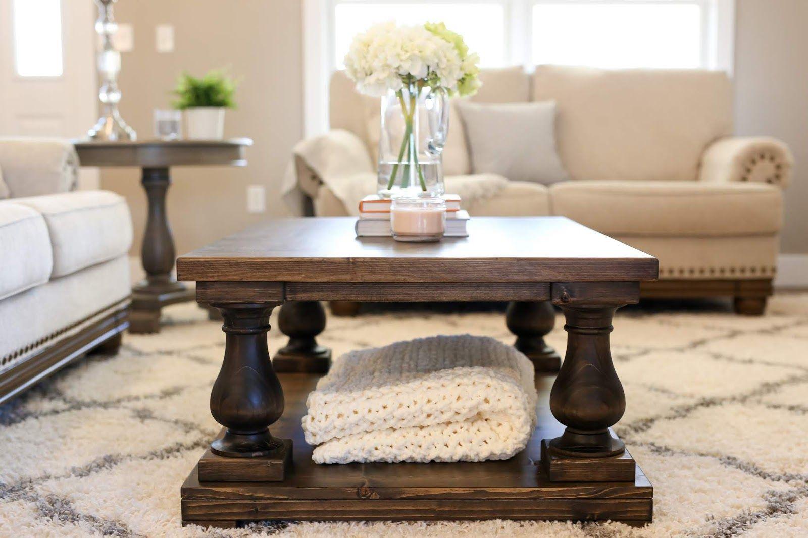 Balustrade coffee table diy plans diy coffee table