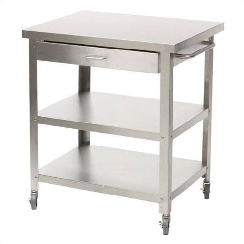 danver stainless steel kitchen cart stainless steel kitchen island stainless steel kitchen cart on kitchen island ideas kitchen bar carts id=21885