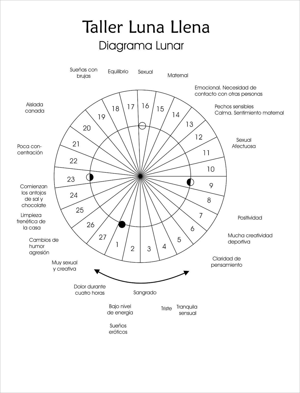 Diagrama lunar | Diagrama Lunar | Pinterest | Empoderamiento ...