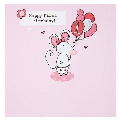 Buy Saffron Cards And Gifts Happy 1st Birthday Card Online At