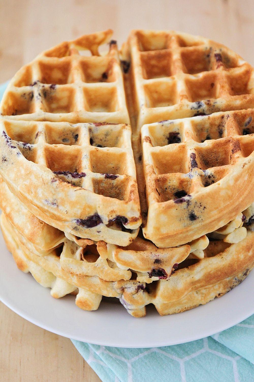 Blueberry Buttermilk Waffles Homemade Waffles Buttermilk Waffles Blueberry Waffles Recipe
