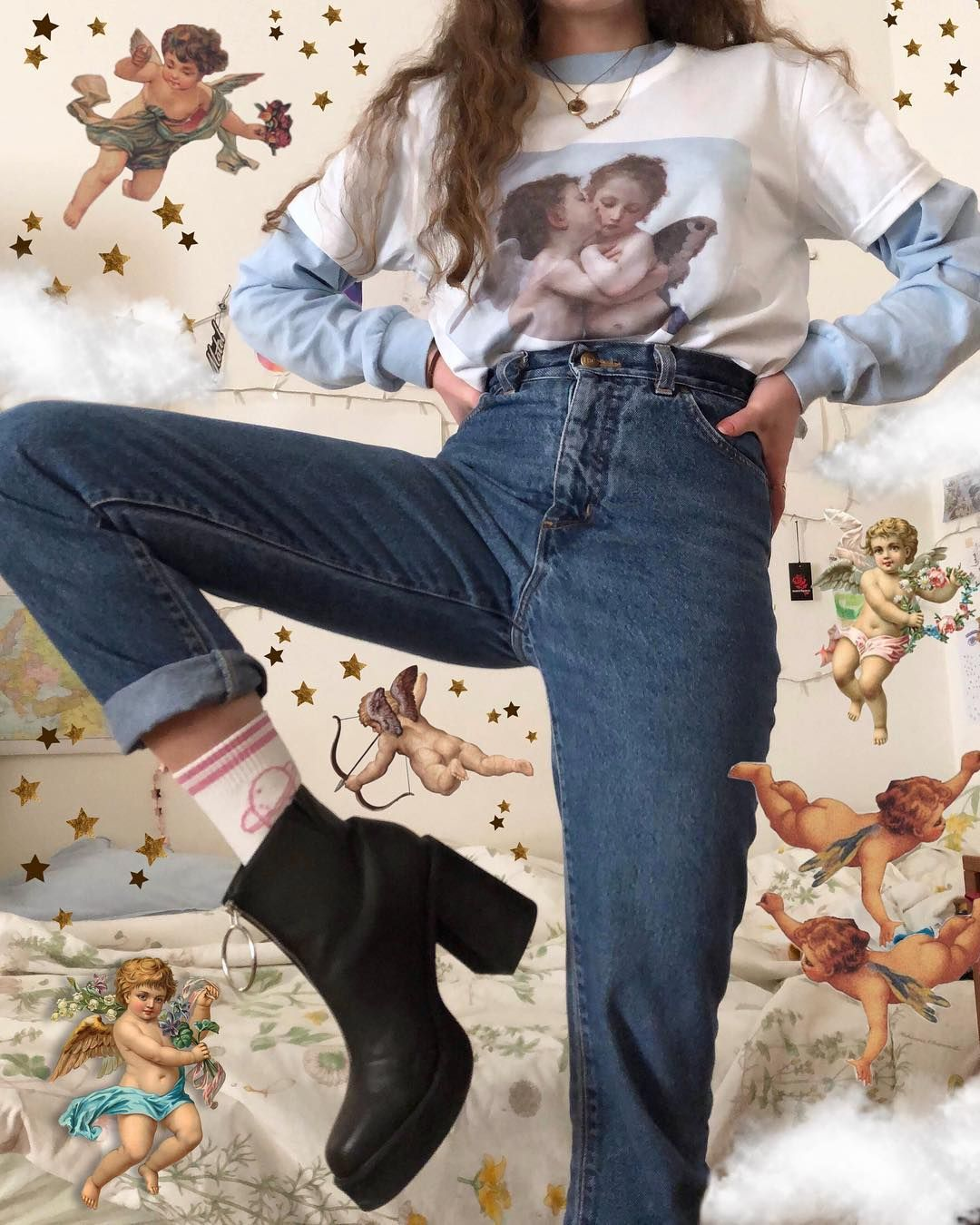 bc5c009b6ecb aesthetic fashion aesthetic clothes aesthetic outfit tumblr style clothing  vintage 90s 80s 70s 60s grunge indie style soft