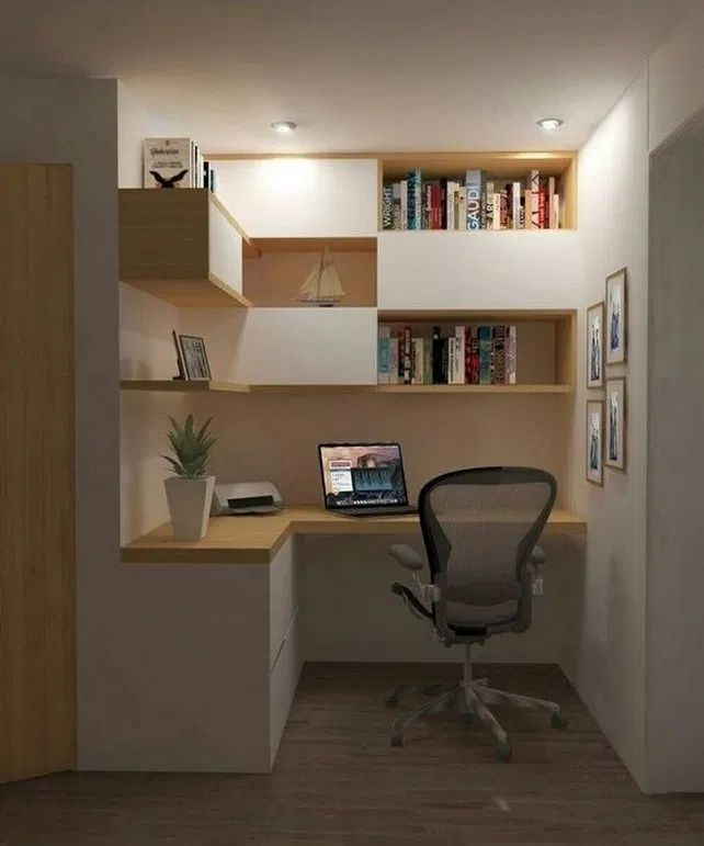 20 Astonishing Small Home Office Design Ideas To Try Today In 2020 Small Home Offices Office Interior Design Modern Home Office