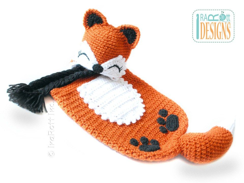 Roxy the Baby Red Fox Hat and Sleeping Bag Set PDF Crochet Pattern ...