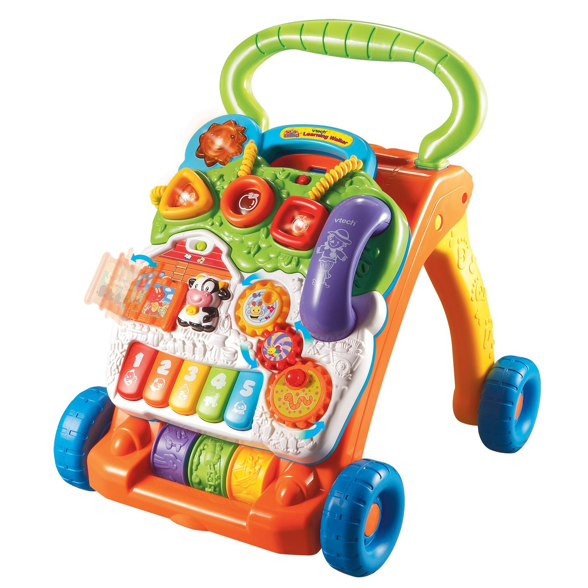 V-Tech Sit-to-Stand Learning Walker Interactive Activity Toy Crawl Tummy Time