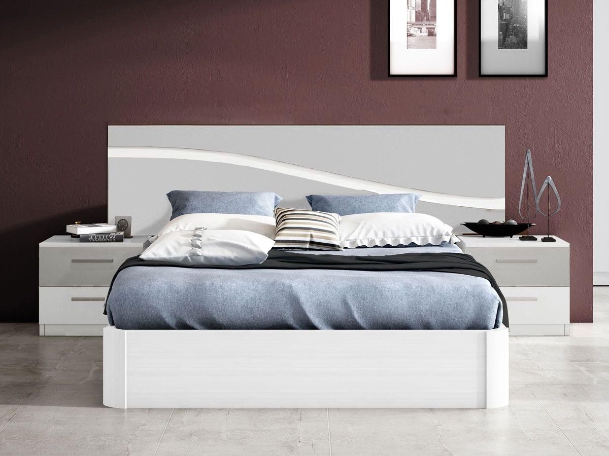 Pin de mar a cardona en camas de madera blancas for Camas blancas de madera