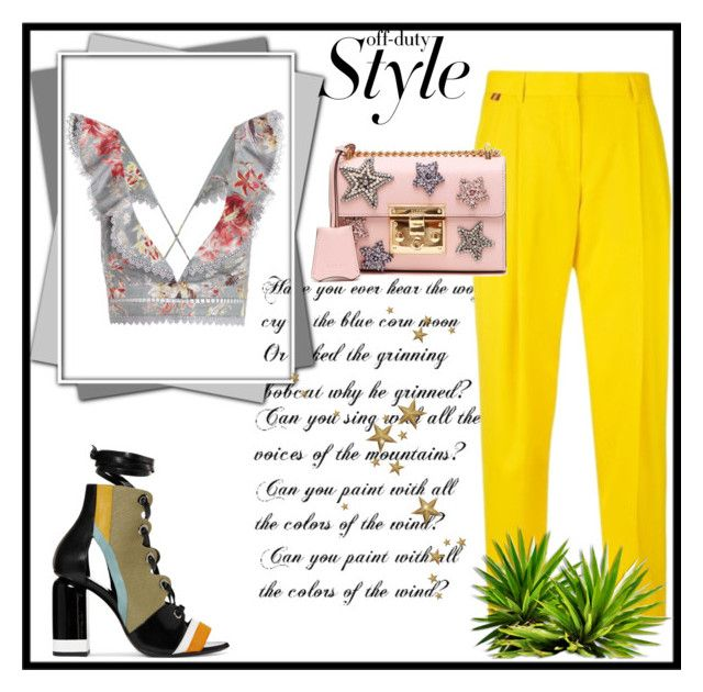 """""""Summer style"""" by women-miki ❤ liked on Polyvore featuring Zimmermann, Paul Smith, Pierre Hardy and Gucci"""