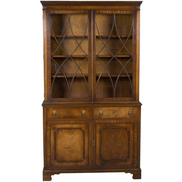 Antique Bookshelf 1750 Liked On Polyvore Featuring Home