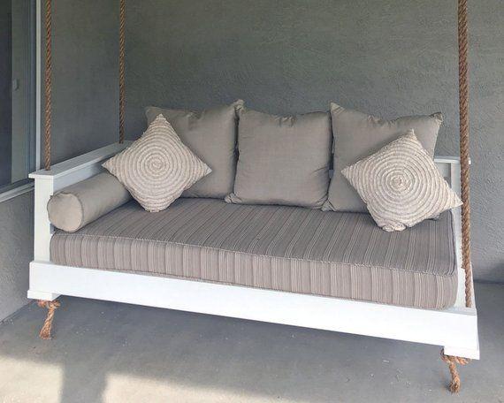 Sunbrella Daybed Custom Cushion Rustic Home Decor Porch Swing