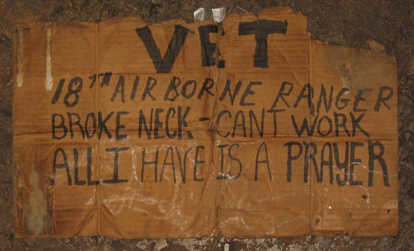 Homeless Vet Homeless Vets Novelty Sign