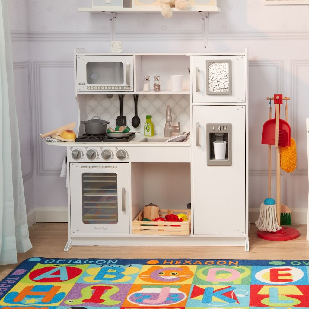 Melissa Doug Chef S Play Kitchen In 2021 Kids Play Kitchen Toy Kitchen Play Kitchen