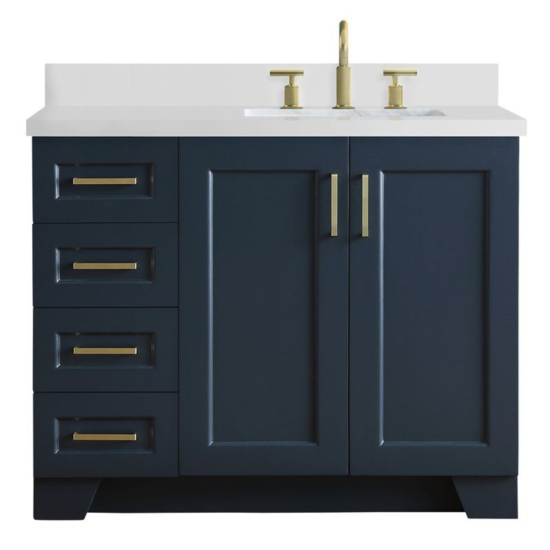 Sawyer 43 In Right Offset Single Rectangle Sink Vanity With
