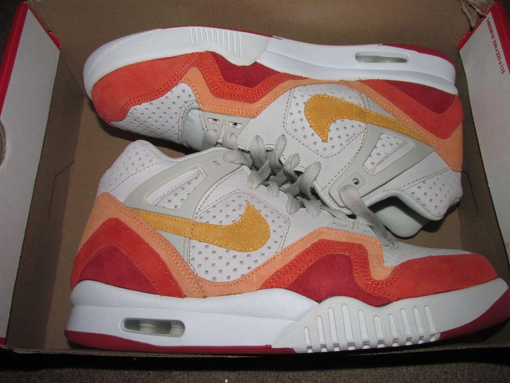 Nike Air Tech Challenge Ii Qs Agassi Tennis Shoes Mens 9 5 Light Bone 667444 008 Nike Tennis Nike Air Nike Tennis Nike