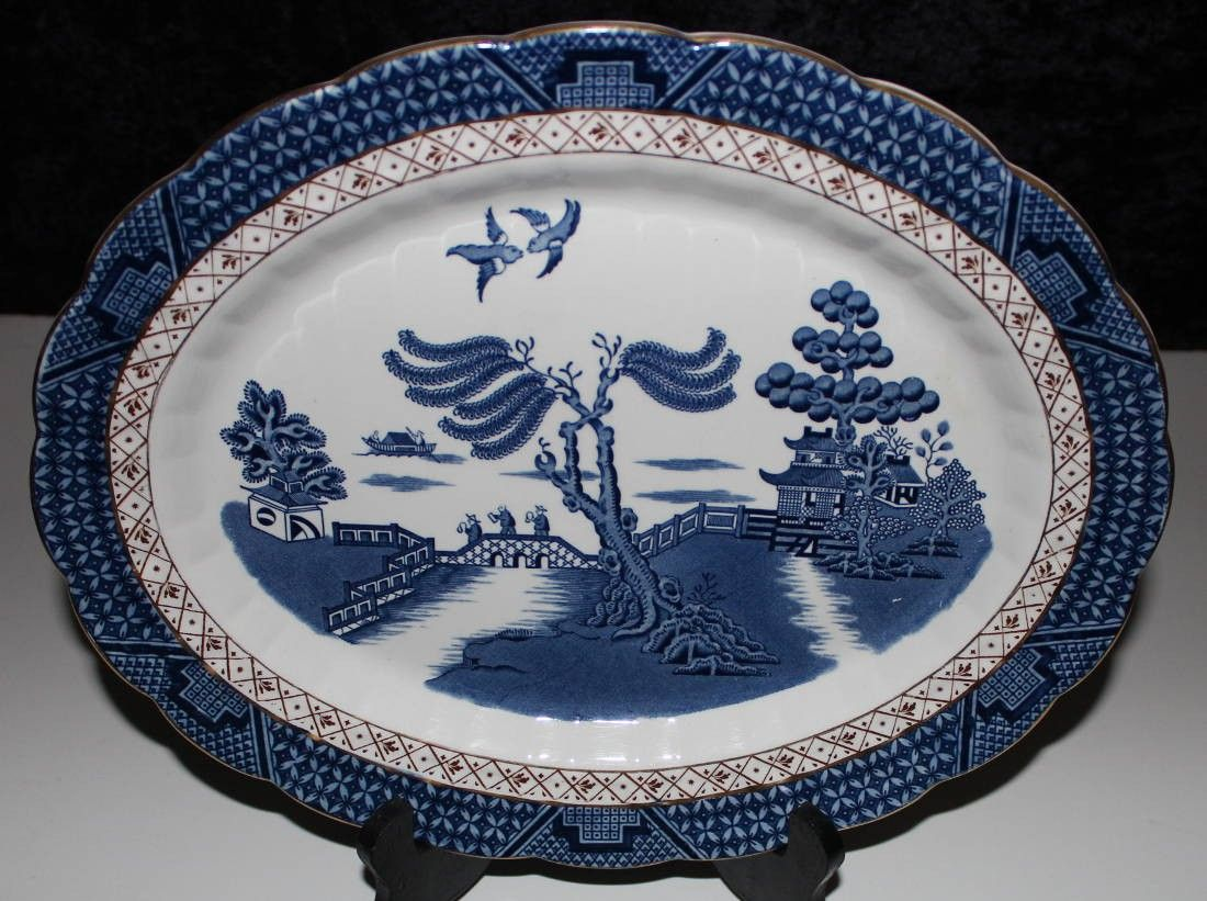 Old China Patterns booths china the old blue willow a8025 ironstone over 13inch
